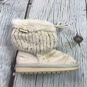 Girls Tan Fur Skechers Twinkle Toes Boots Size 7